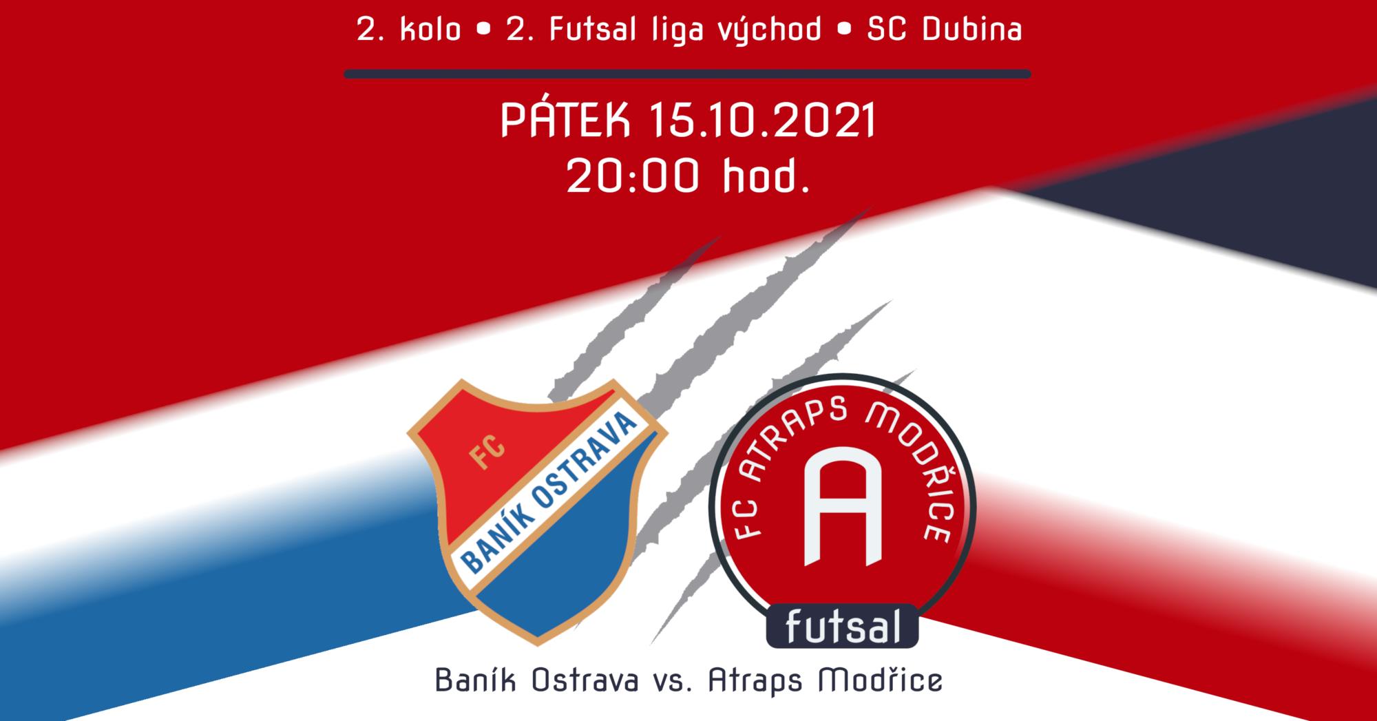 Plakát k utkání Baník Ostrava vs. FC Atraps Modřice